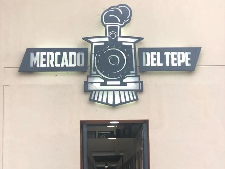Mercado del Tepe - Diseño y fabricación de letrero